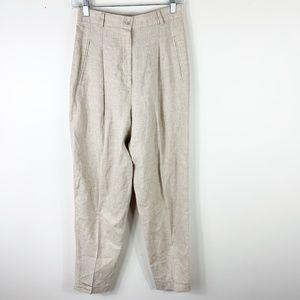 Vtg express high waist wide leg linen blend pants